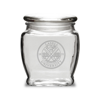 Deep Etched Old Fashion Apothecary Jar with Lid (online only)