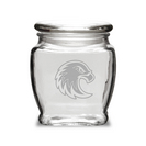 Deep Etched 16 oz Old Fashion Apothecary Jar with Lid