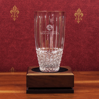 Hand Cut Krystof Crystal Barrel Vase (online only)