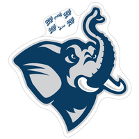 Blue 84 Mascot Sticker