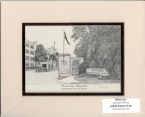 The Citadel Lesesne Gate 11 by 14 Inch Print