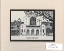 The Citadel Summerall Chapel 11 by 14 Inch Print