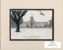 The Citadel PT Barracks 11 by 14 Inch Print