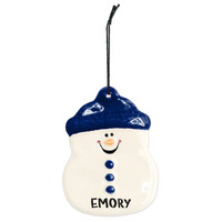 Ceramic Snowman Ornament
