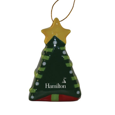 Hamilton Christmas Ornament.Ceramic Tree Ornament The Hamilton College Bookstore