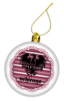 Snow Stripes Ornament