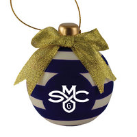 Ceramic Striped Bulb Ornament