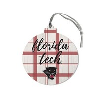 Legacy Athletic Round Plaid Ornament