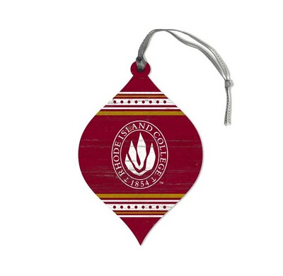 Legacy Athletic Teardrop Stripe Ornament