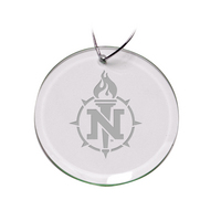 Deep Etched Round Holiday Ornament