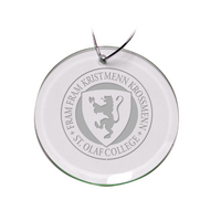 Deep Etched Round Holiday Ornament 3D (Online Only)