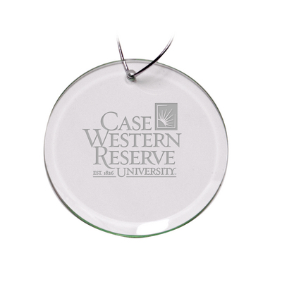Deep Etched Round Holiday Ornament 3D