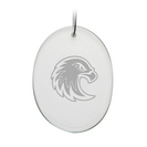 Deep Etched Oval Holiday Ornament 2.75x3.75H