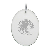 Deep Etched Oval Holiday Ornament