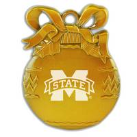 Mississippi State Bulldogs Bulb Christmas Ornament