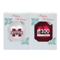Mississippi State Bulldogs 2pack Shatterproof Ornament