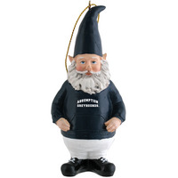 Gnome Ornament Custom designed 4.25 poly resin ornament. Onecolor custom school graphic on front of hoodie.