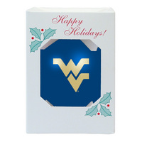 WVU Mountaineers Shatter Proof Ornament