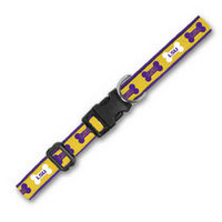 LSU Tigers Wov In Pet Collar