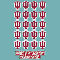 Indiana Hoosiers Sticker Sheet