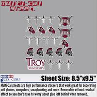 Troy University Sticker Sheet