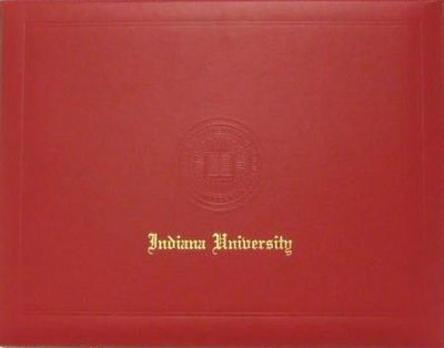 Indiana Hoosiers Diploma Cover