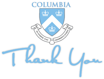 columbia university bookstore thank you cards