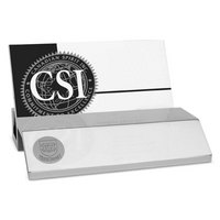 Silver Desk Business Card Holder
