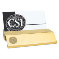 Gold Desk Business Card Holder