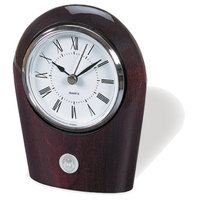 Palm Desk Clock Silver