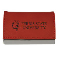 Velour Accented Business Card Holder