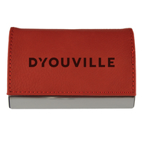 Accented Stitched Leather Business Cardholder