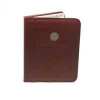Medallion & Deboss Padfolio Brown
