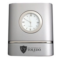 University of Toledo Two Tone Desk Clock