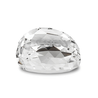 Etched Gem Cut Faceted Crystal Paperweight (online only)