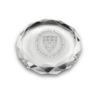 Etched Optic Crystal Paperweight (online only)