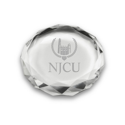 Etched Optic Crystal Paperweight 3D