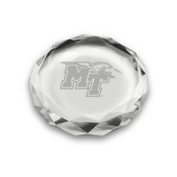 Etched Optic Crystal Paperweight 3D (Online Only)