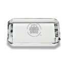 Etched Rectangular Crystal Paperweight   2.5 x 3.5