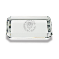 Etched Rectangular Crystal Paperweight (online only)