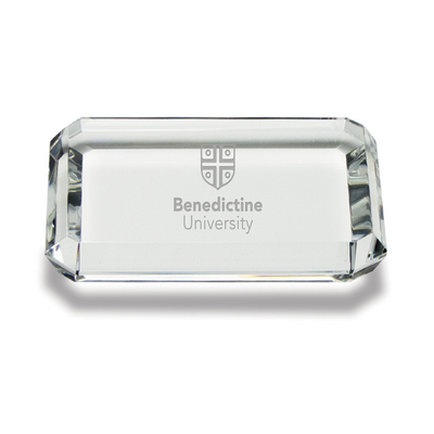 Etched Rectangular Crystal Paperweight 2.5 x 3.5 (Online Only)
