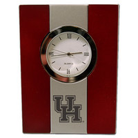 Houston Cougars Wood and Metal Desk Clock
