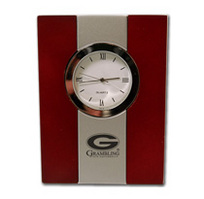 Grambling State Tigers Wood and Metal Desk Clock