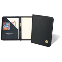 Gold Zippered Portfolio