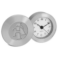Silver Travel Alarm Clock