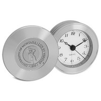 Silver Travel Alarm Clock (Online Only)