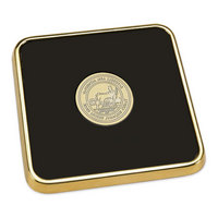 Gold Tone Square Coaster (Online Only)