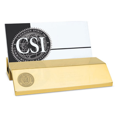 Gold Business Card Holder (Online Only)