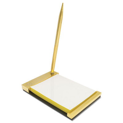 Gold Notepad Desk Set