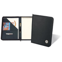 Silver Zippered Portfolio